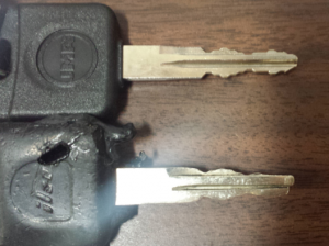 worn out key